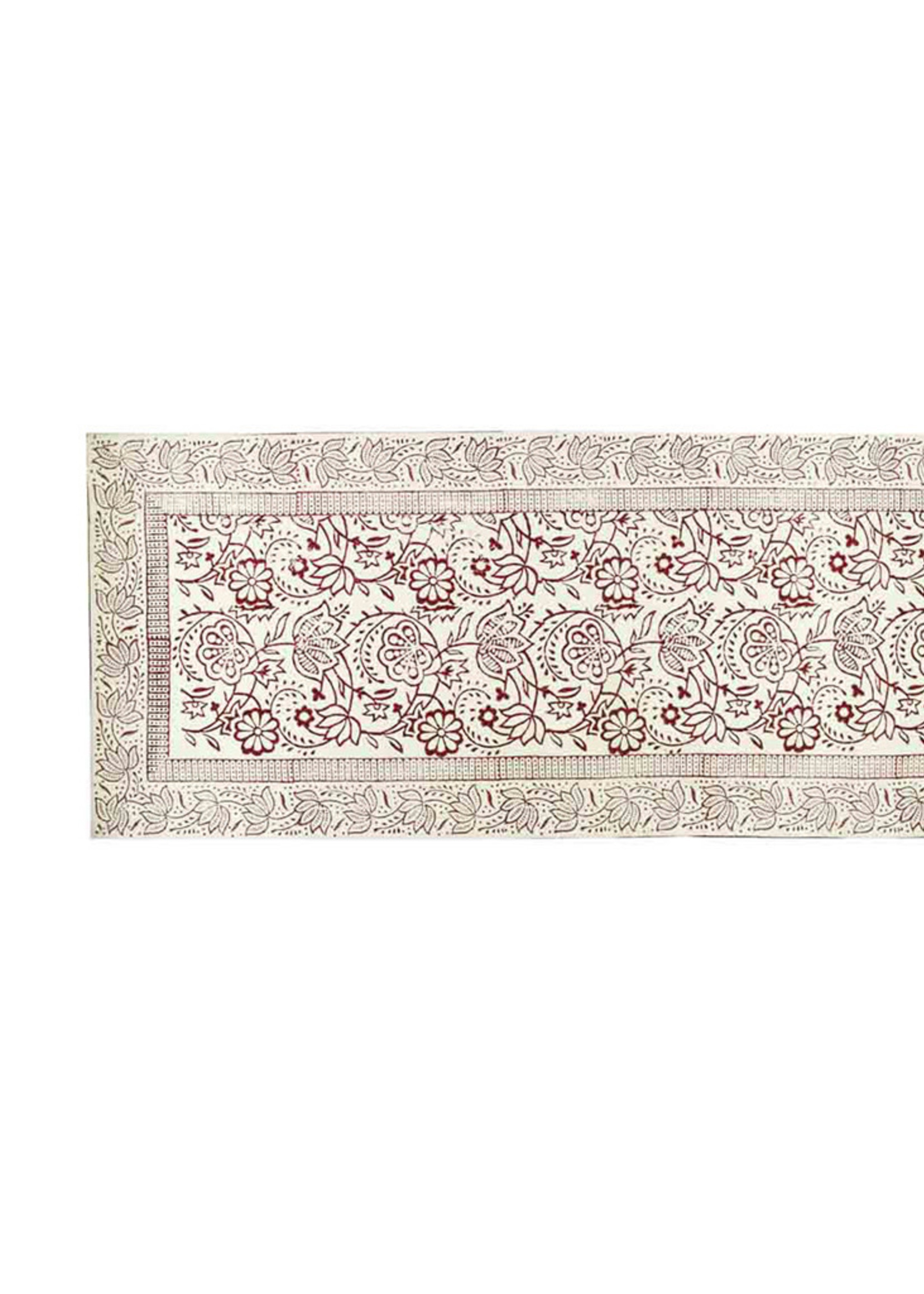 Cranberry Vines Table Runner