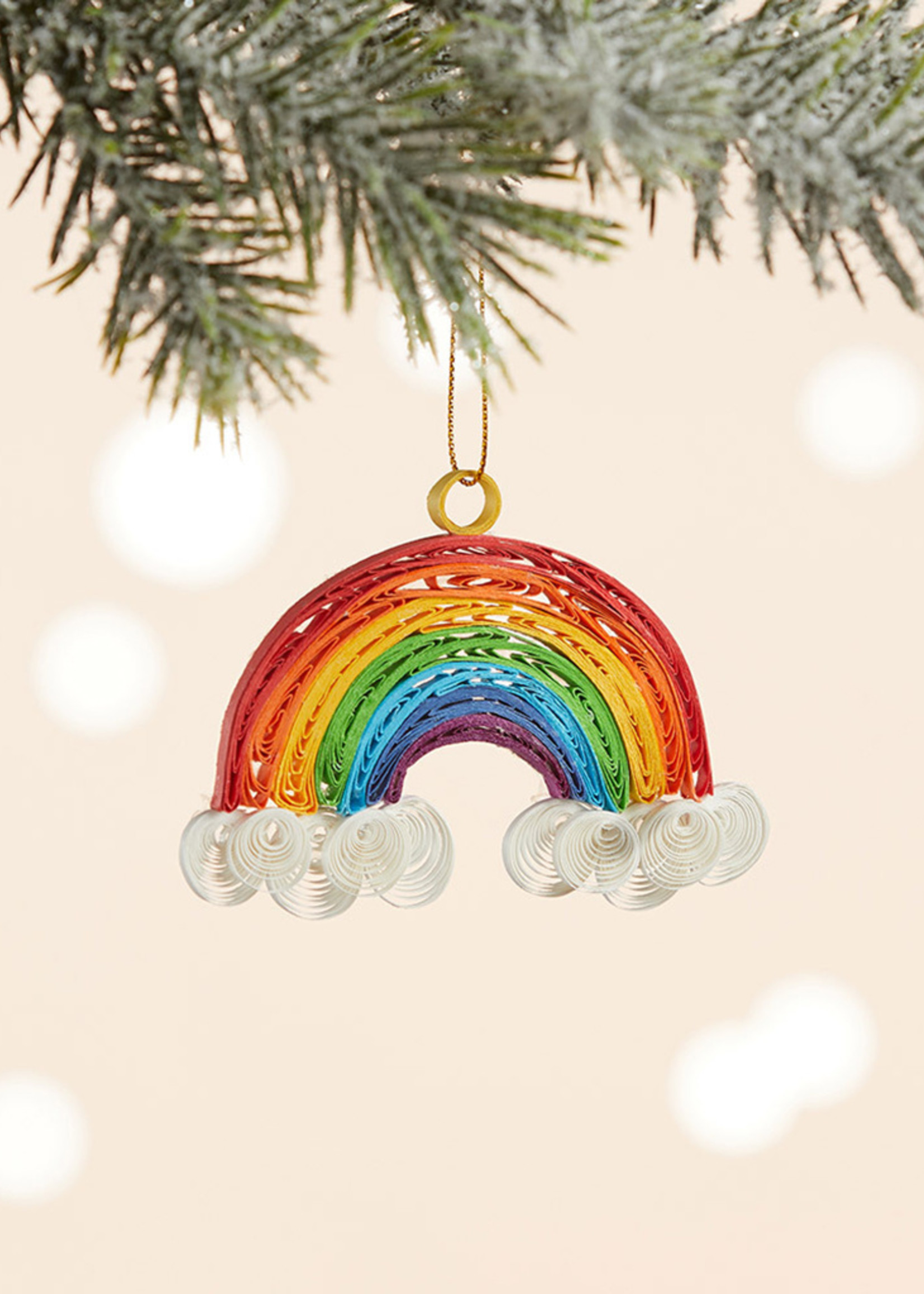 Quilled Rainbow Ornament