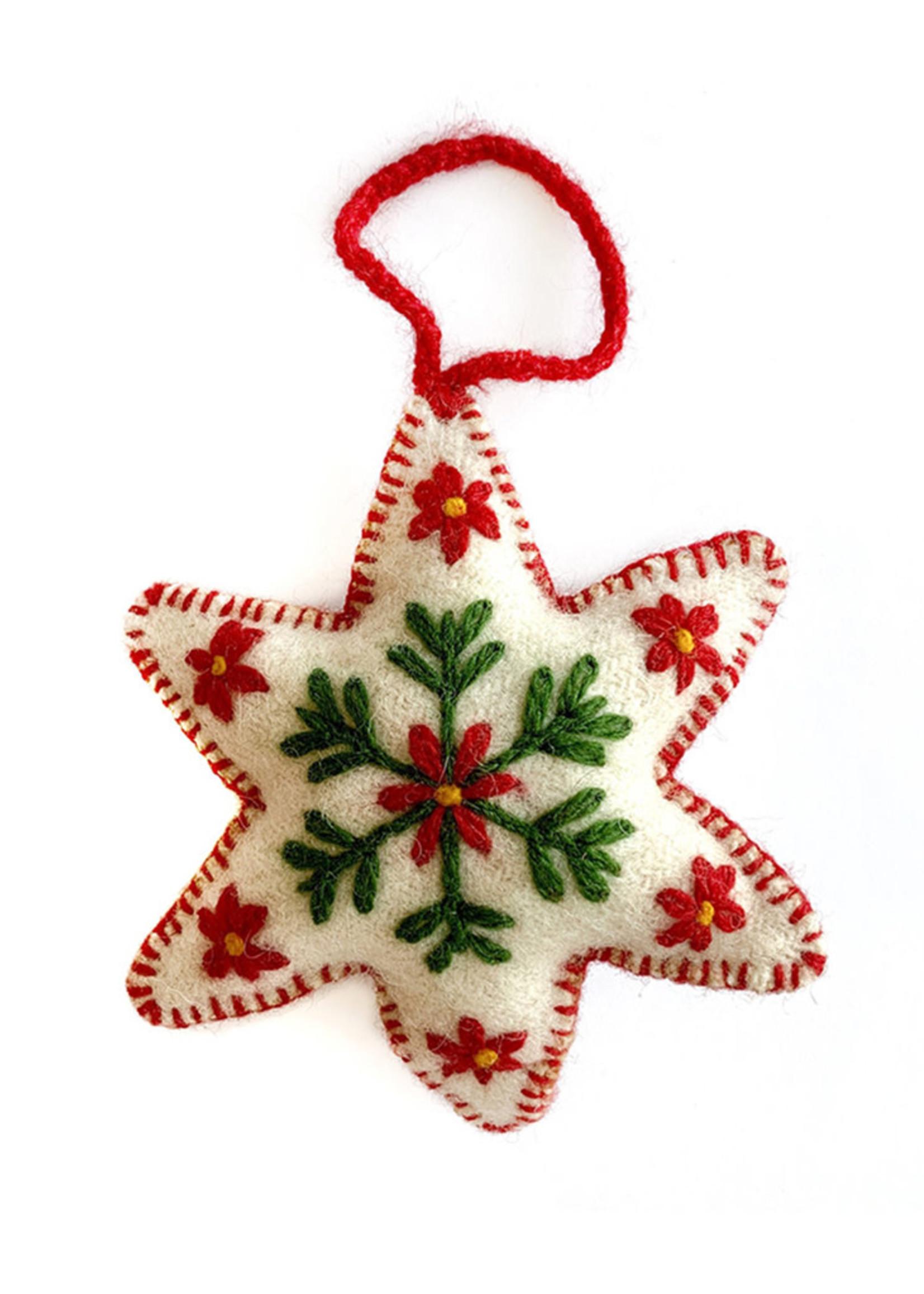 Wool Christmas Star