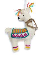 Colorful Wool Llama Ornament