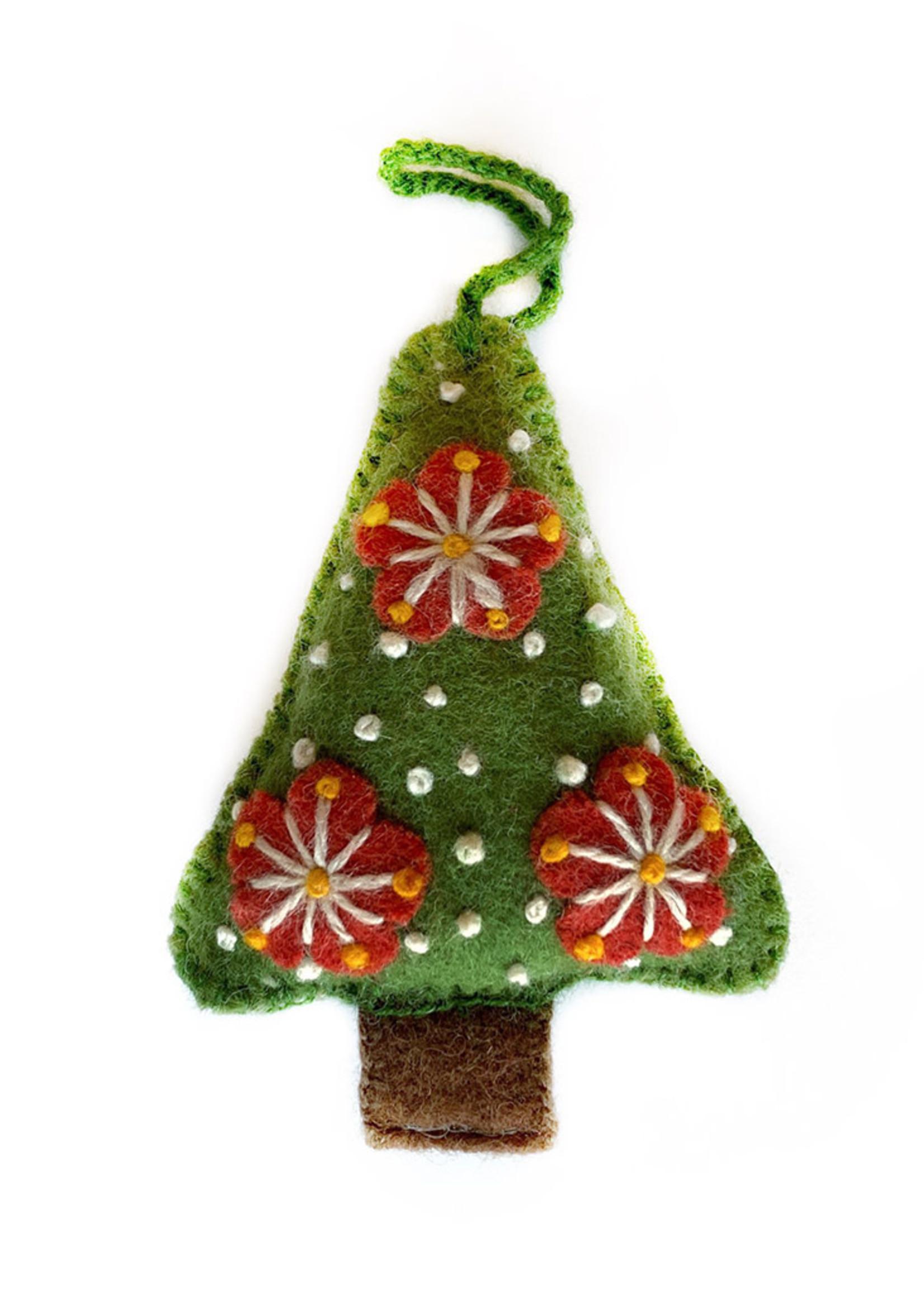 Wool Green Tree Ornament