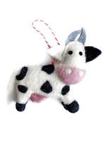 Felt Cow Ornament