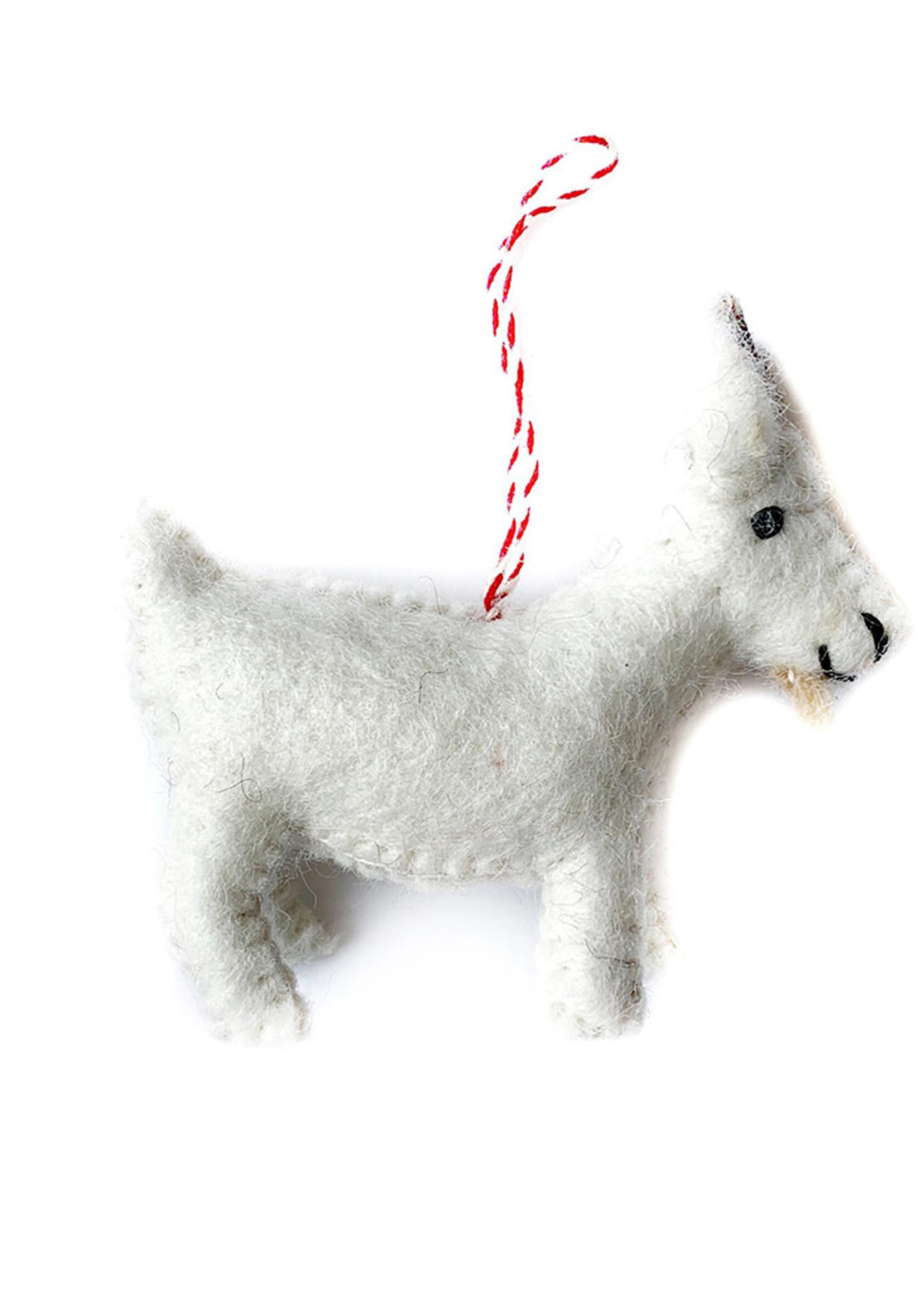 Felt Goat Ornament