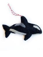 Felt Orca Ornament