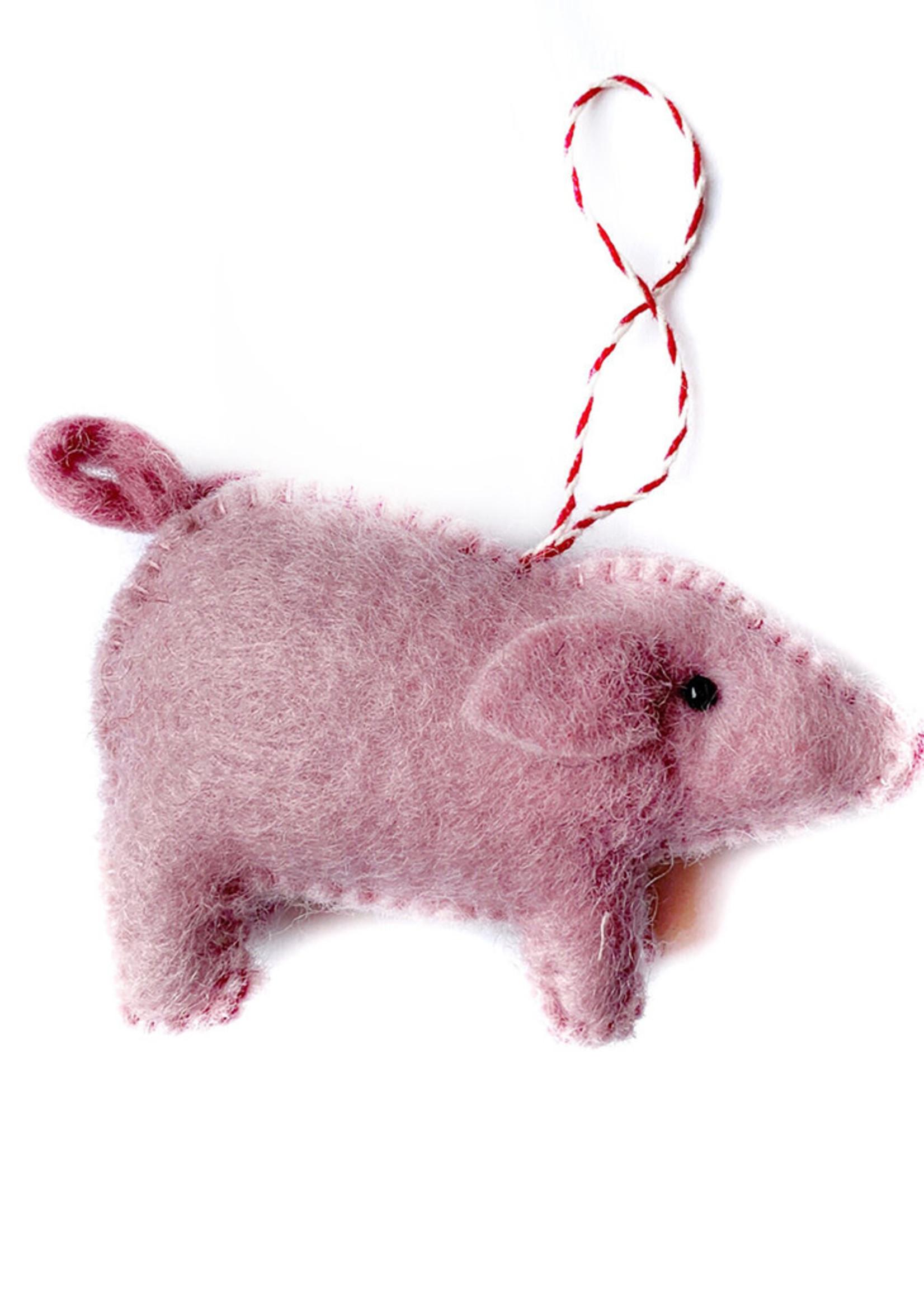 Felt Pig Ornament