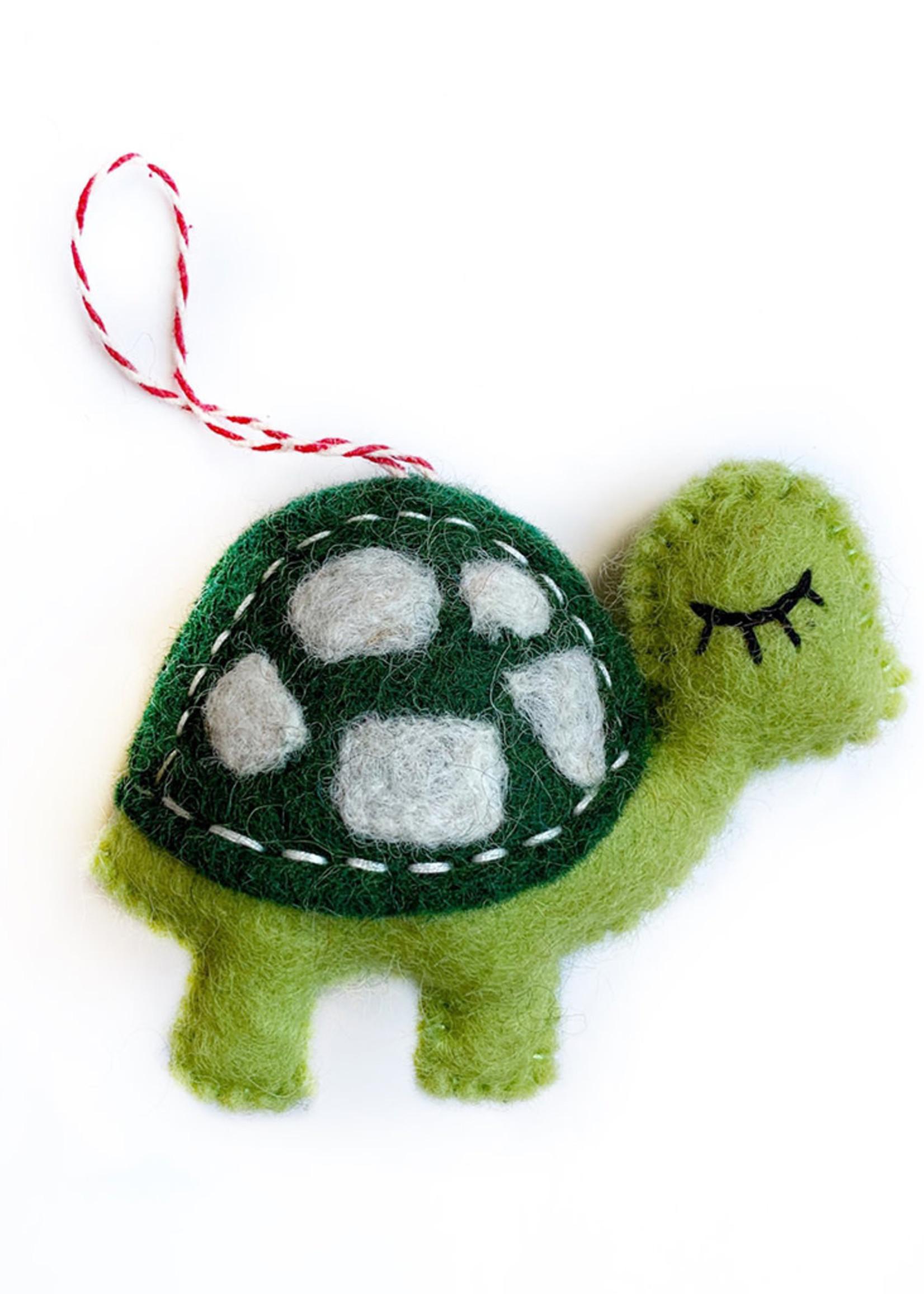 Felt Turtle Ornament
