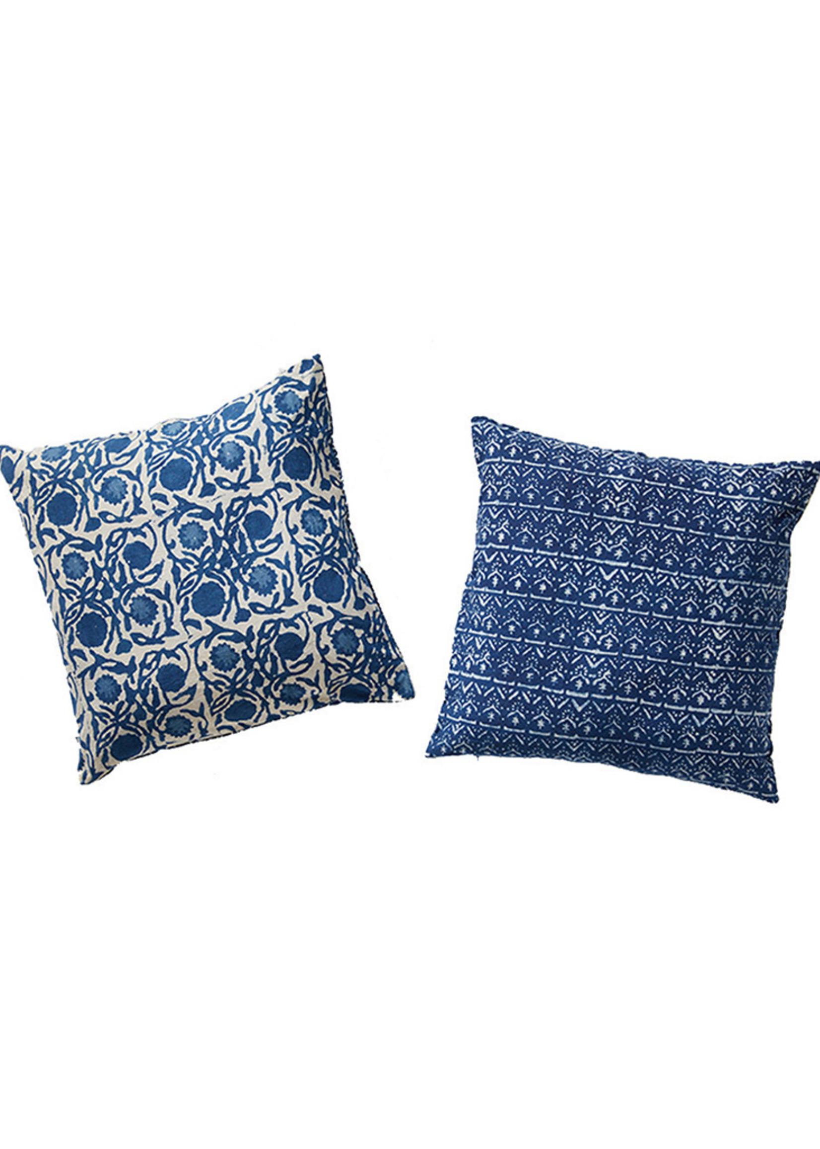 Dabu Cotton Floral Pillow