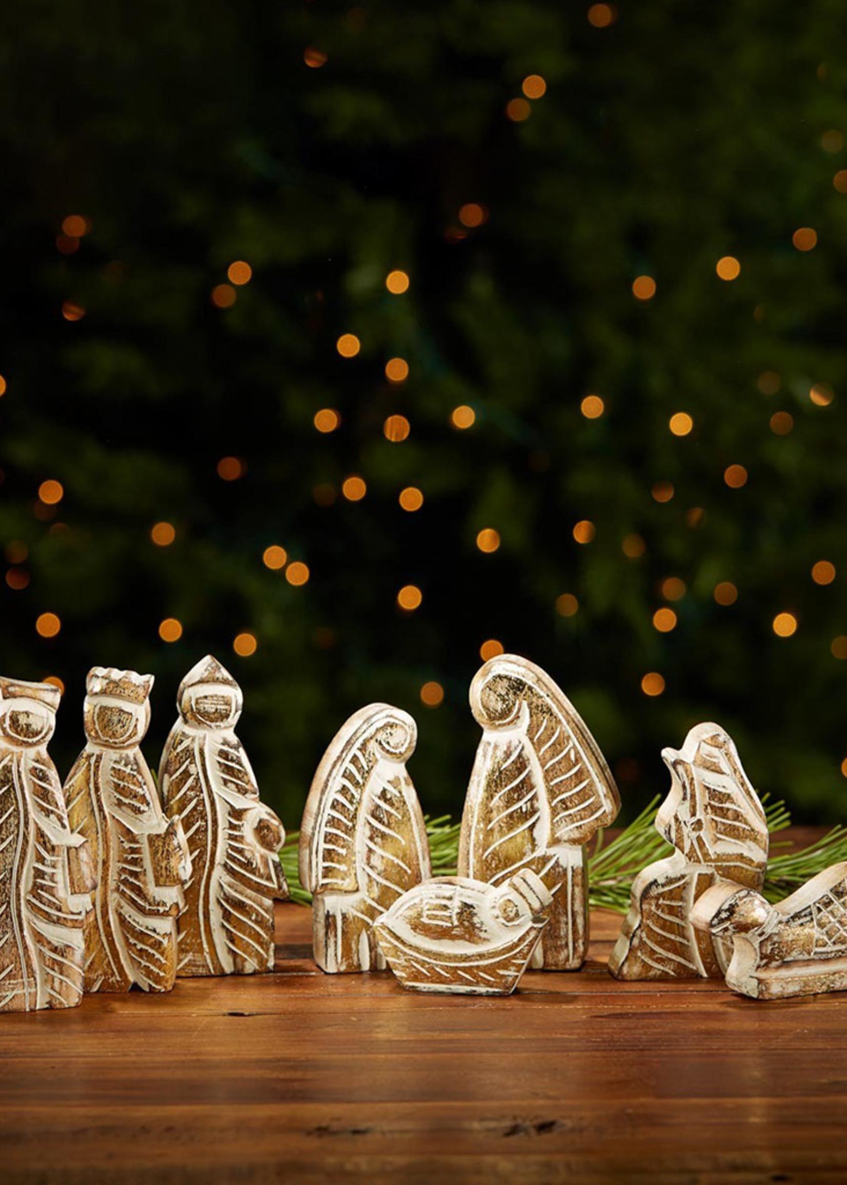 Mango Wood Nativity