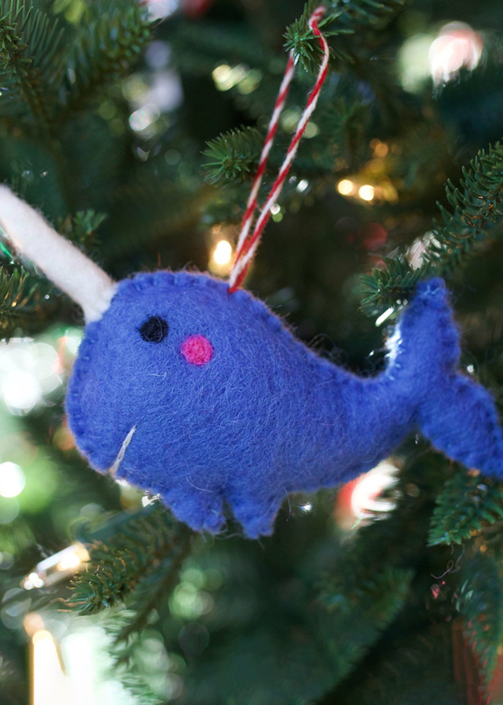 Felt Narwhal Ornament