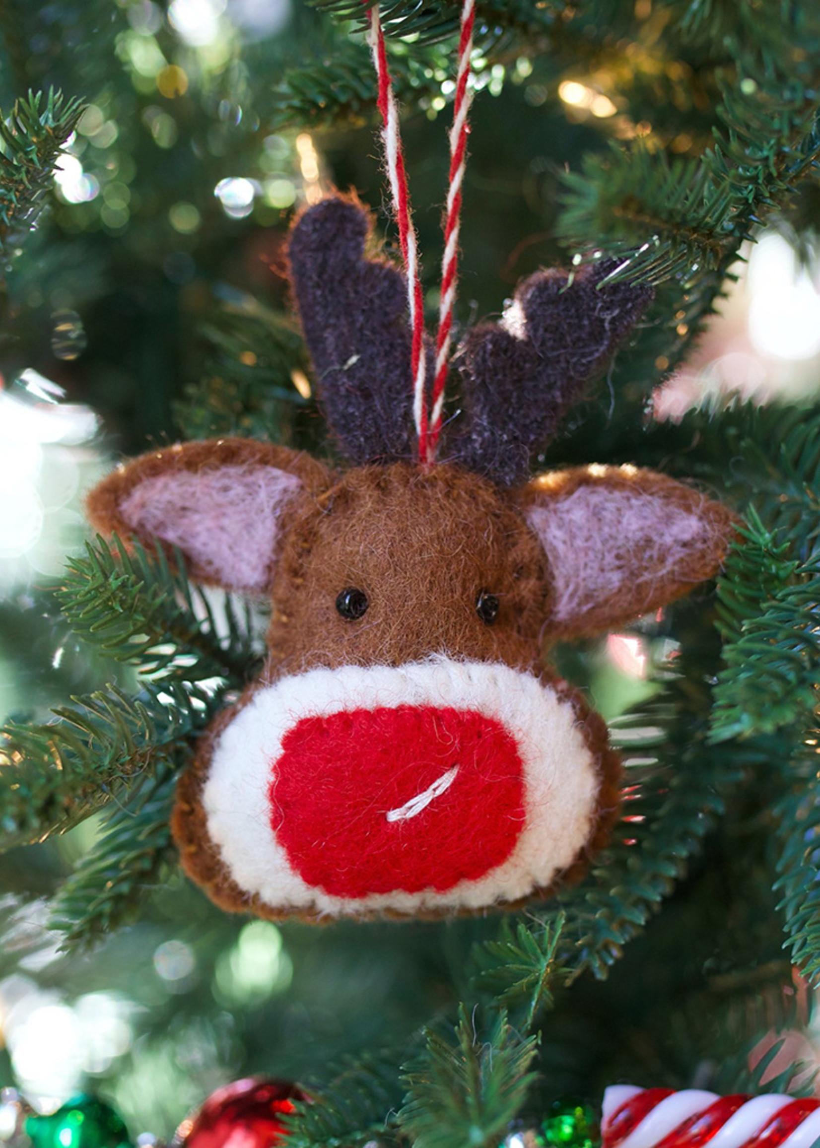 Felt Red Nose Reindeer