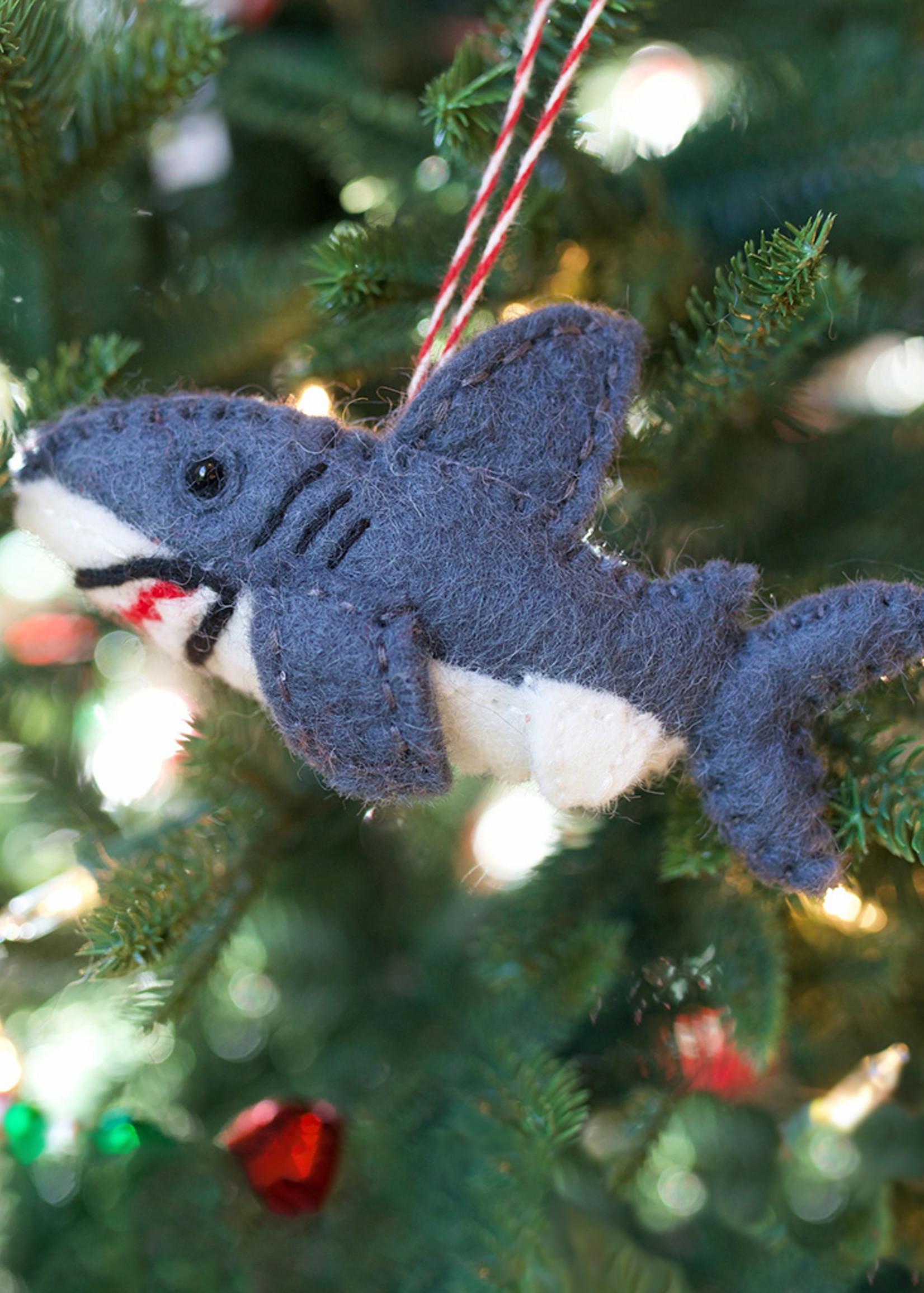 Felt Shark Ornament