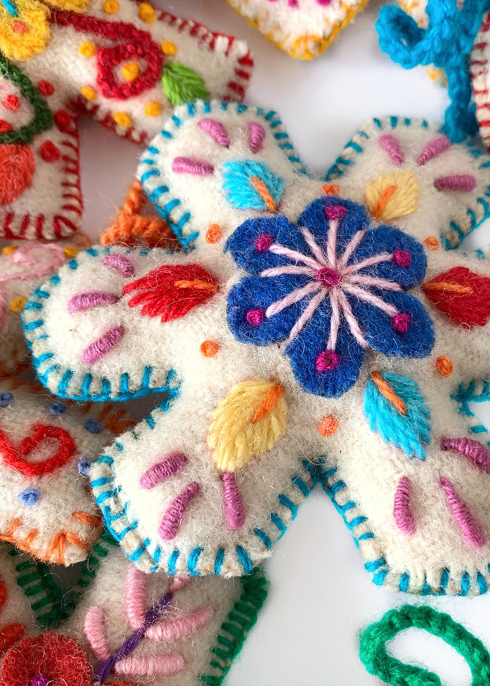 Wool Snowflake Ornament