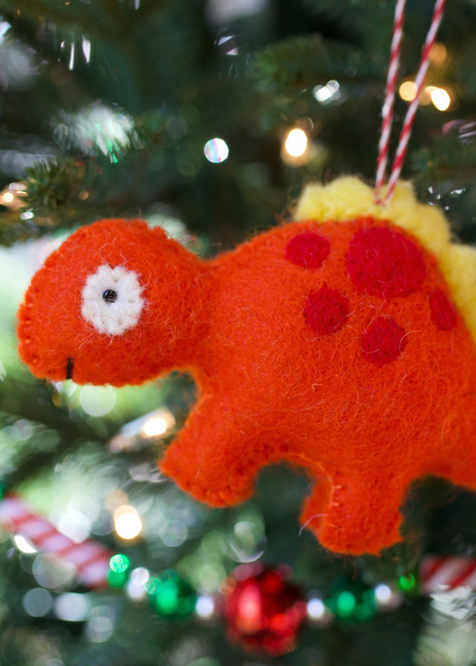 Felt Stegosaurus Ornament