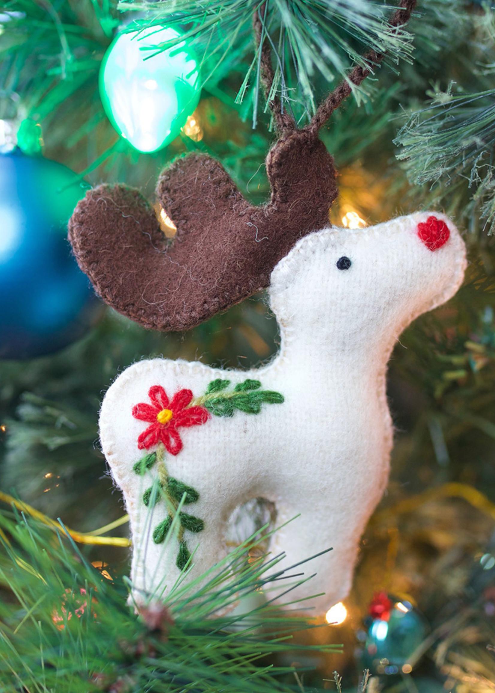 Wool Reindeer Ornament