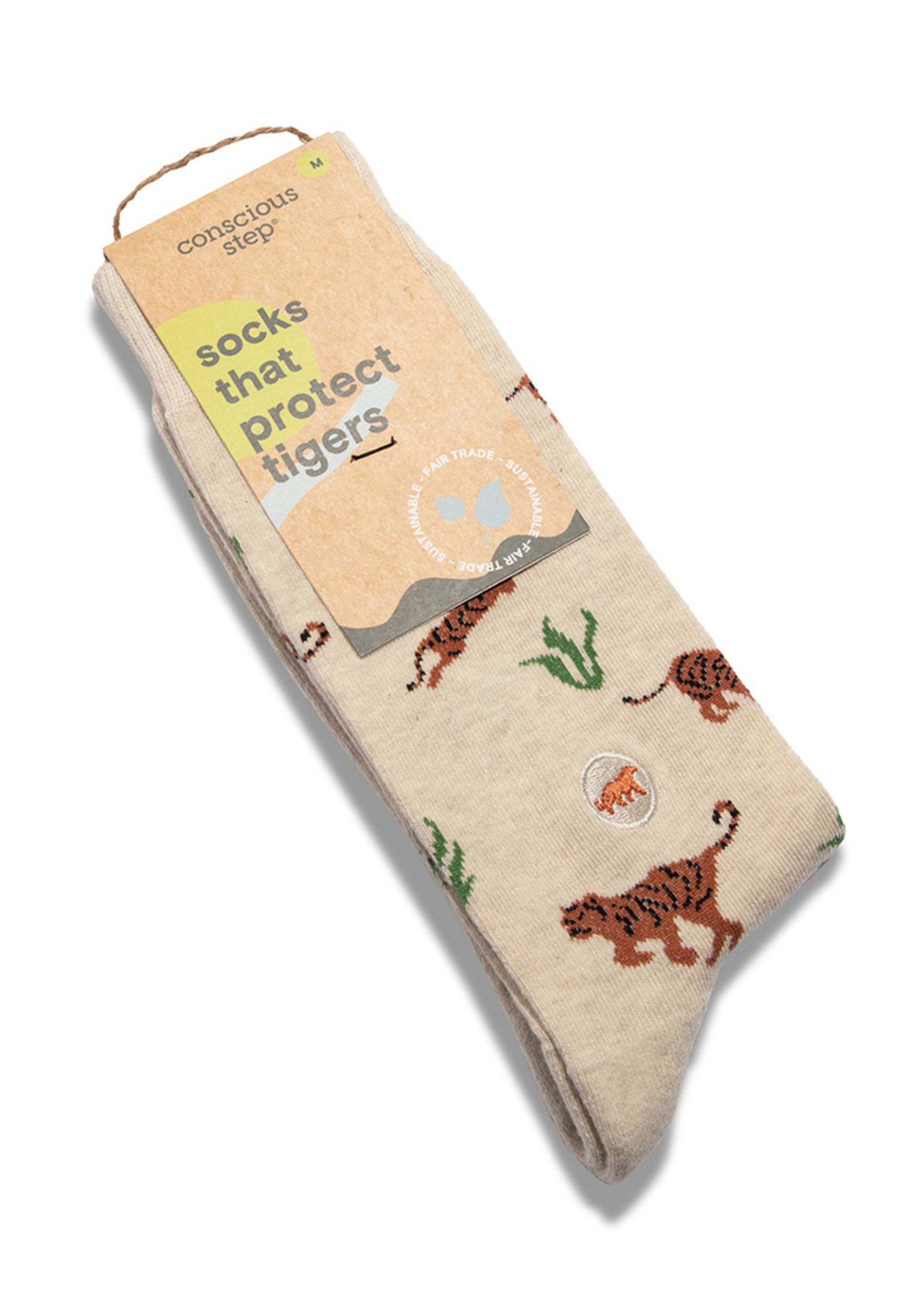 Conscious Step Women's Socks that Protect Tigers