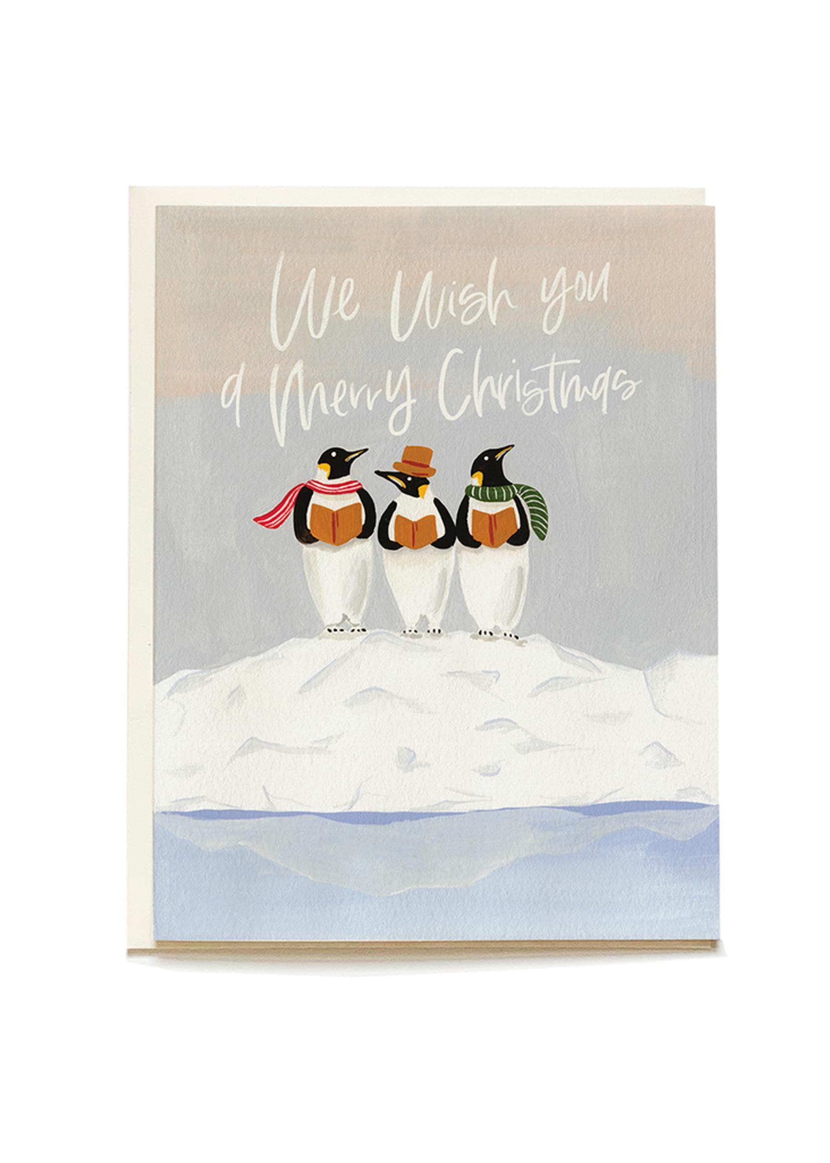 Penguin Carolers Holiday Card Set