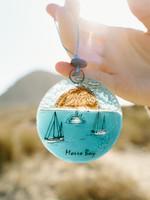 Morro Bay Glass Ornament