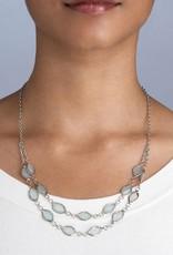 Saffy Handicrafts Shimmer Leaf Necklace