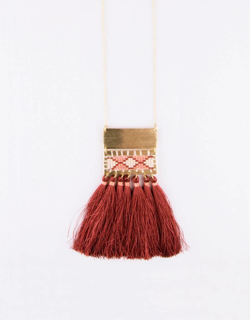Mata Traders Boho Tassel Necklace