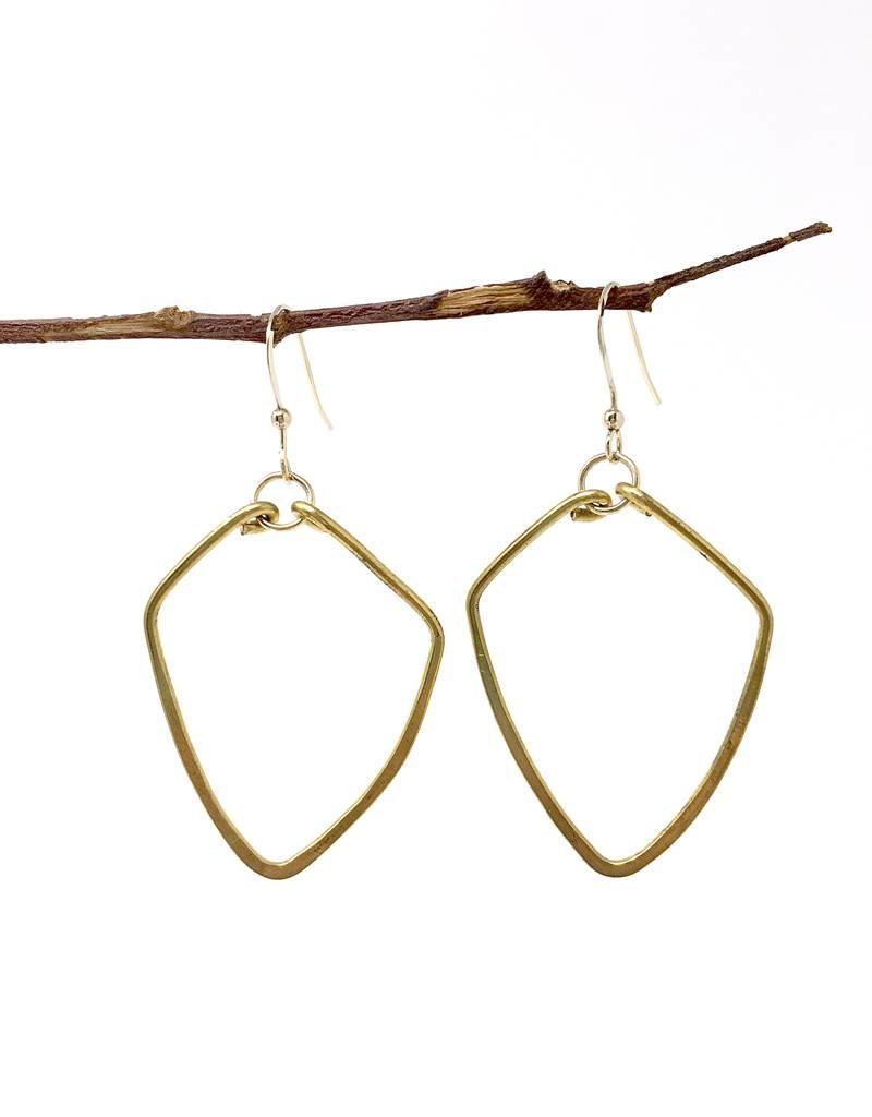Forai Hammered Br Diamond Earrings