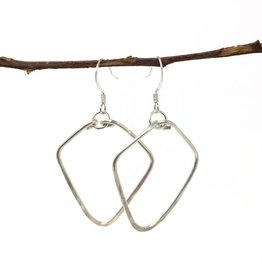 Forai Hammered Silver Diamond Earrings