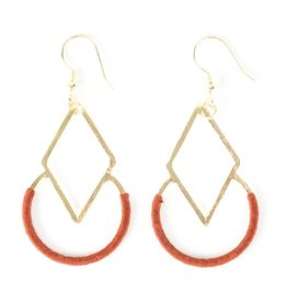 Mata Traders Graphic Threads Rose Earrings
