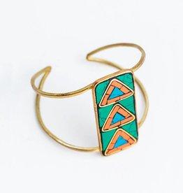 Mata Traders Mosaic Arrow Cuff Bracelet