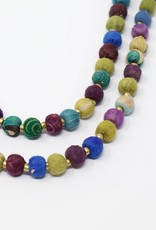Tara Projects Cool Tones Sari Necklace