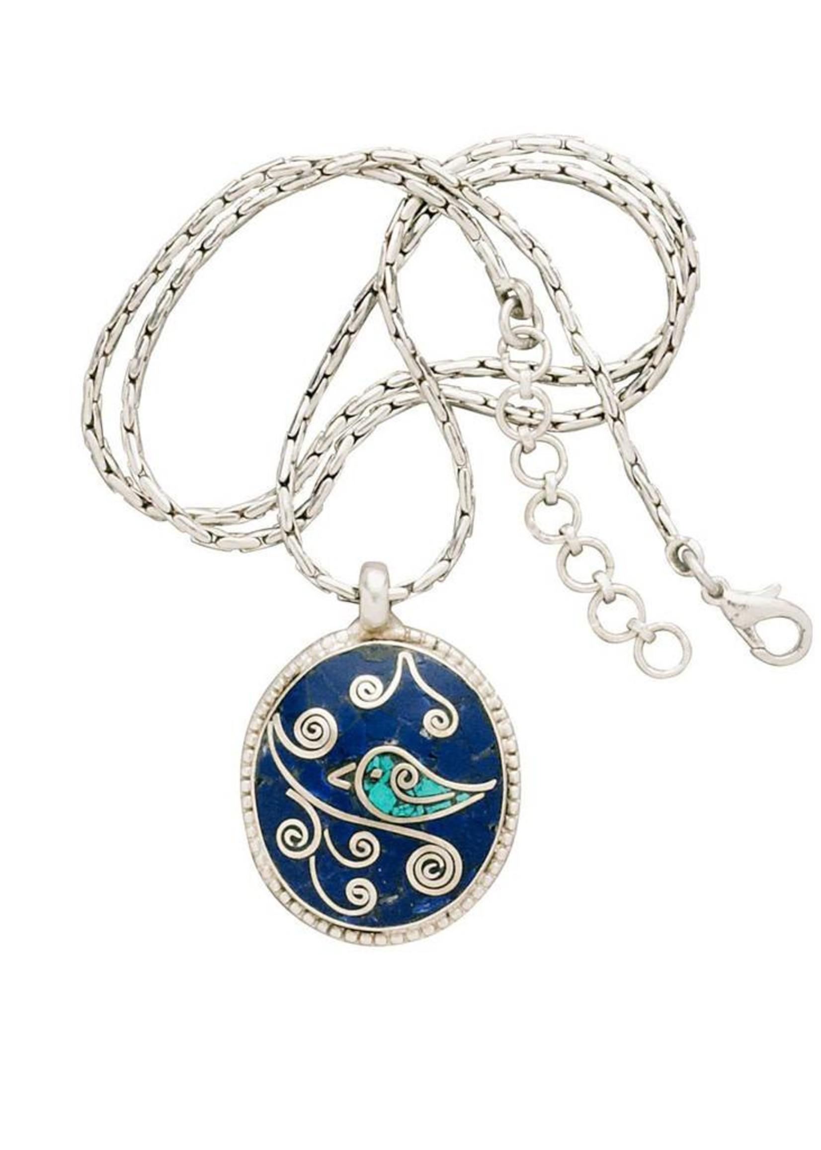 Manushi Bird on a Branch Necklace