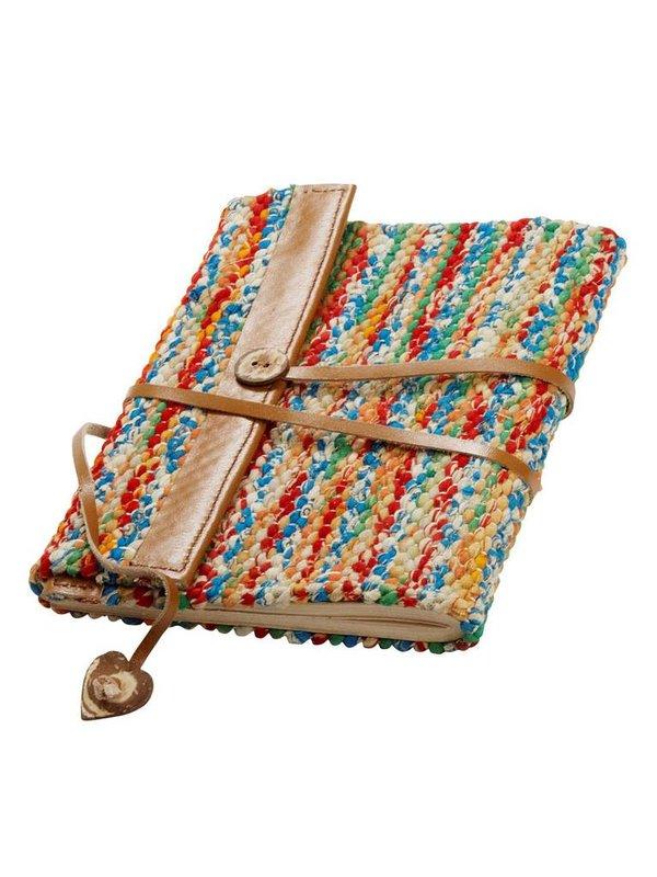 Prokritee Woven Sari & Leather Journal