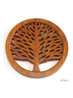 Tree of Life Shesham Wood Trivet