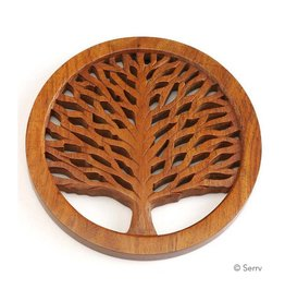 Asha Handicrafts Tree of Life Shesham Wood Trivet