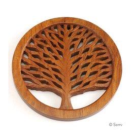 Asha Handicrafts Tree of Life Shesham Wood Trivet