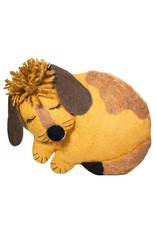 dZi Puppy Felted Throw Pillow