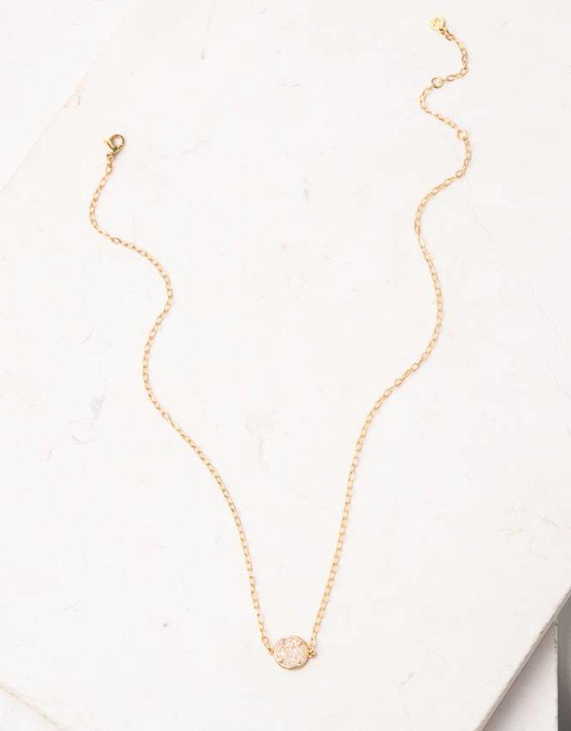 Starfish Project Karis White Druzy Pendant Necklace
