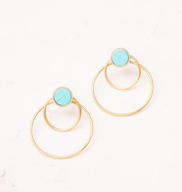 Starfish Project Bothina Turquoise & Gold Hoop Earrings