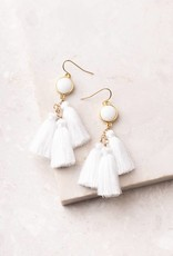 Starfish Project Lucia White Tassel Earrings