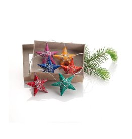 Prokritee Paper Star Ornament Set