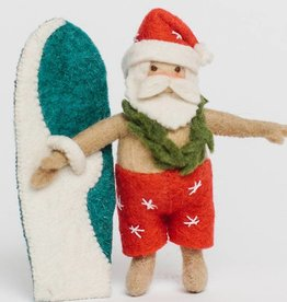 Craftspring Surf's up Santa Ornament