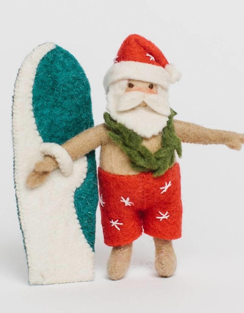 Craftspring Surf's up Santa Ornament