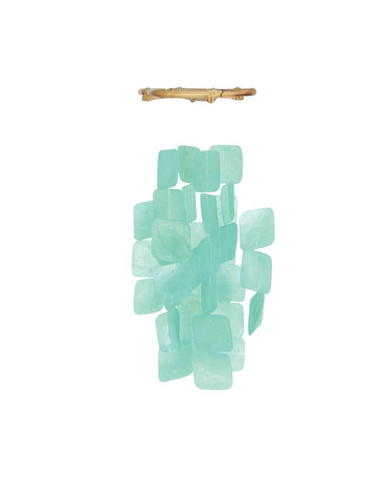 Zen-Zen Small Turquoise Capiz Windchime