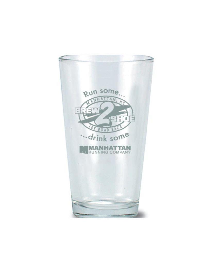 MRC BREW 2 SHOE PINT GLASS