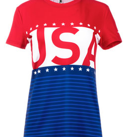 Mizuno WOMEN'S PATRIOTIC SHORT SLEEVE