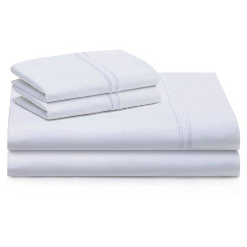 MALOUF WOVEN Supima Premium Cotton Sheet Set (White) - Twin Extra Long