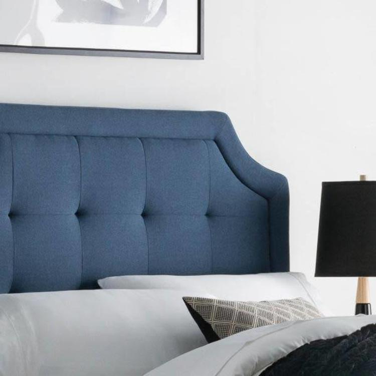 Structures Scooped Square Tufted Upholstered Headboard Full Furniture And Frames Mattress Man Stores