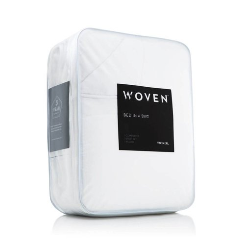 MALOUF WOVEN Bed-In-A-Bag - Twin White