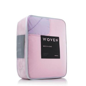 MALOUF WOVEN Bed-In-A-Bag - King Lilac/Blush