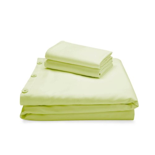 MALOUF WOVEN Bamboo Duvet Cover Set - King Citron