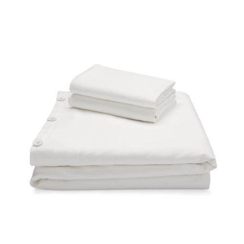 MALOUF WOVEN Bamboo Duvet Cover Set - King White