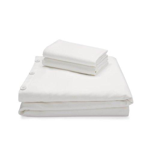 MALOUF WOVEN Bamboo Duvet Cover Set - Queen White